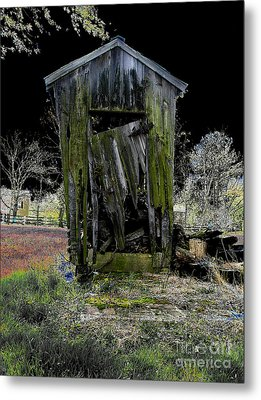 Abandoned Metal Print by Cindy Roesinger