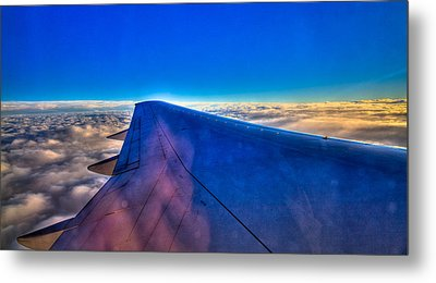 Above The Clouds On A 757 Metal Print by David Patterson