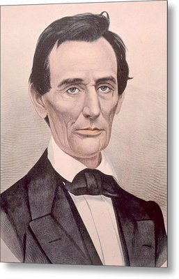 Abraham Lincoln 1808-1865, U.s Metal Print by Everett