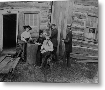 Abraham Lincolns Log Cabin. The Lincoln Metal Print by Everett