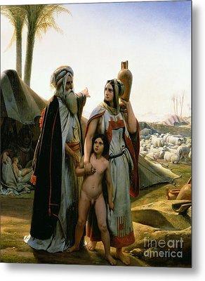 Abraham Turning Away Hagar Metal Print by Emile Jean Horace Vernet