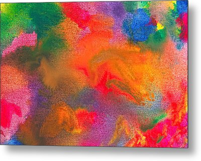 Abstract - Crayon - Melody Metal Print by Mike Savad