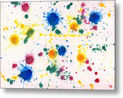 Abstract - Gesso And Food Color - My New Carpet Metal Print by Mike Savad