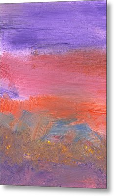 Abstract - Guash - Lovely Meadows 2 Of 2 Metal Print by Mike Savad