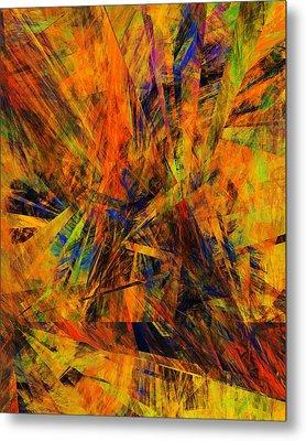Abstract 100611 Metal Print by David Lane