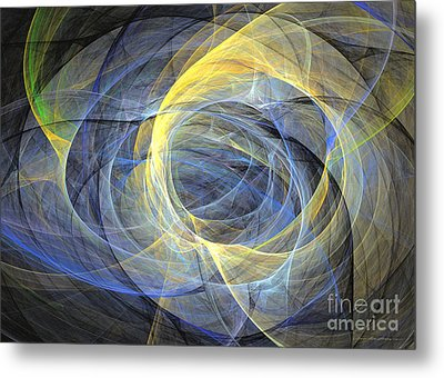 Abstract Art - Delightful Mood Of Abstracted Mind Metal Print by Abstract art prints by Sipo