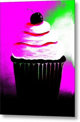 Abstract Cupcakes By Shawna Erback Metal Print by Shawna Erback