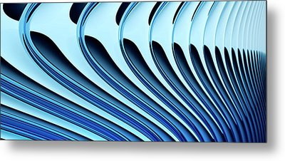 Abstract Curved Lines, Diminishing Perspective Metal Print by Ralf Hiemisch