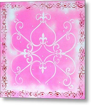 Abstract Decorative Art Original Painting Pink Fantasy By Madart Metal Print by Megan Duncanson