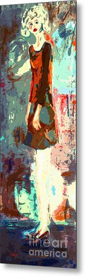 Abstract Figure The Odd Girl By Ginette Metal Print by Ginette Callaway