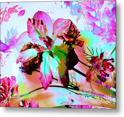 Abstract Flower Number Five Metal Print by Doris Wood