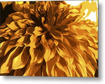 Abstract Flowers 14 Metal Print by Sumit Mehndiratta