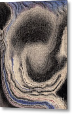 Abstract Geode 3 Metal Print by Christine Perry
