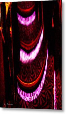 Abstract Magentas Metal Print by Christopher Holmes