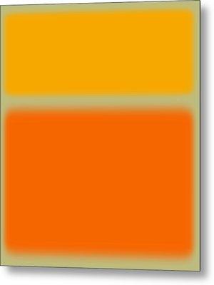 Abstract Orange And Yellow Metal Print by Naxart Studio