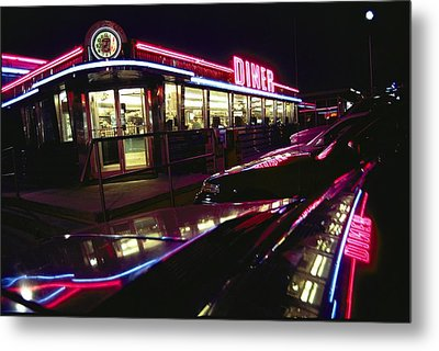 Abstract Reflections In Cars Metal Print by Stephen St. John