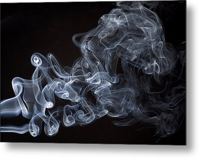 Abstract Smoke Running Horse Metal Print by Setsiri Silapasuwanchai