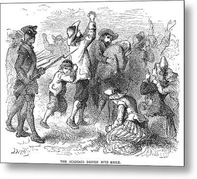 Acadian Expulsion, 1775 Metal Print by Granger