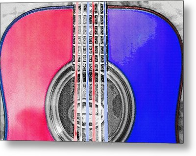 Acoustic Guitar - Americana Metal Print by Steve Ohlsen
