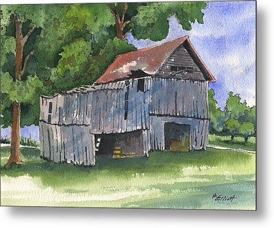 Across From Andies Metal Print by Marsha Elliott