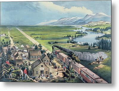 Across The Continent Metal Print by Currier and Ives