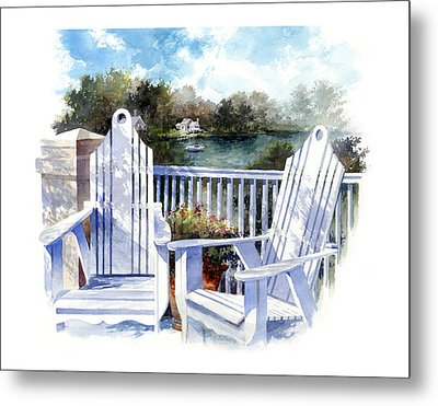 Adirondack Chairs Too Metal Print by Andrew King