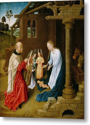 Adoration Of The Christ Child  Metal Print by Master of San Ildefonso