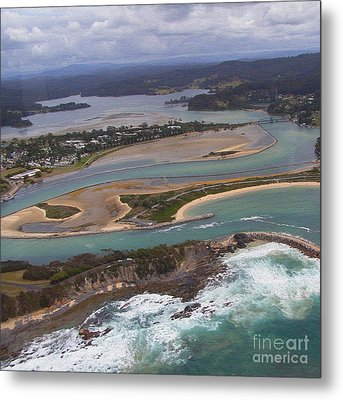 Aerial View Of Narooma Inlet Metal Print by Joanne Kocwin