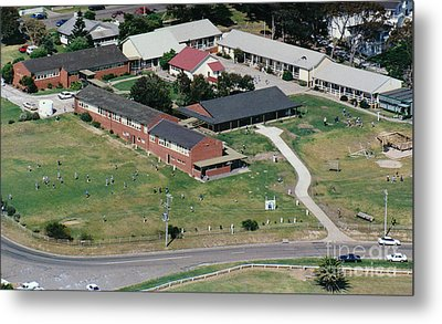 Aerial View Of Narooma Public School Metal Print by Joanne Kocwin