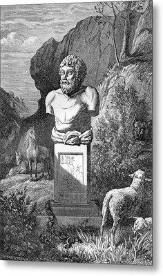 Aesop, Ancient Greek Fabulist Metal Print by