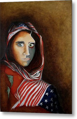 Afghangirl Revisited Metal Print by Martin Davis