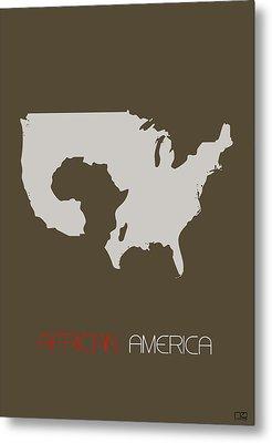 African America Poster Metal Print by Naxart Studio