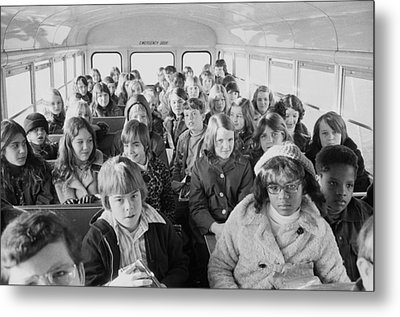 African American And White School Metal Print by Everett