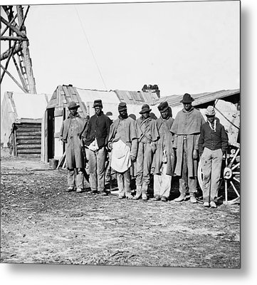 African-american Contrabands Dressed Metal Print by Everett