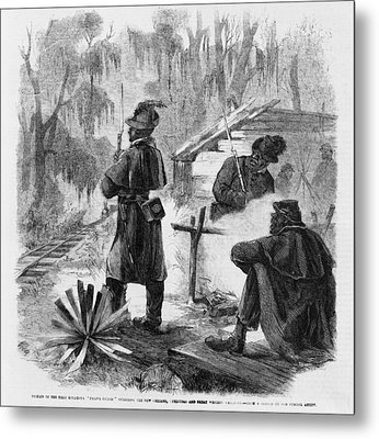 African American Pickets Of The First Metal Print by Everett