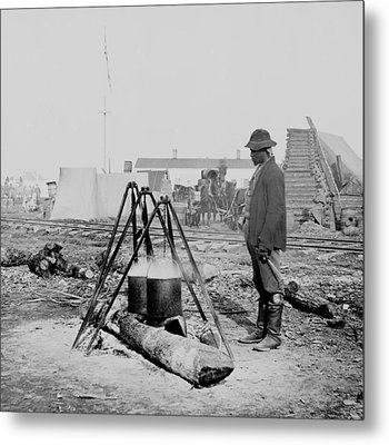 African American Union Army Cook Metal Print by Everett