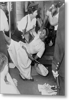 African American Woman Resisting Metal Print by Everett