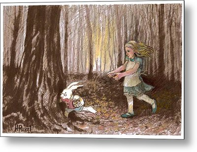After The Bunny Metal Print by Herb Russel