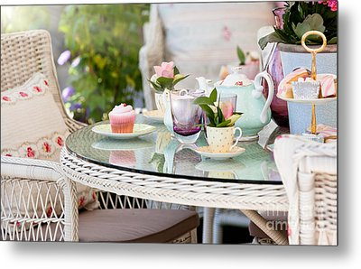 Afternoon Tea And Cakes Metal Print by Simon Bratt Photography LRPS