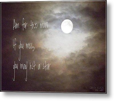 Aim For The Moon Metal Print by Yvon van der Wijk