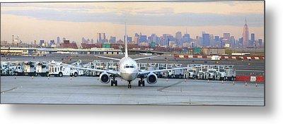 Airport Overlook The Big City Metal Print by Mike McGlothlen