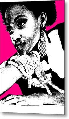 Aisha Pink Metal Print by Naxart Studio