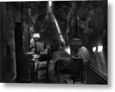 Al Capone's Cell IIi - Easton State - Scarface - The Syndicate - The Chicago Outfit   Metal Print by Lee Dos Santos