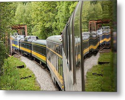 Alaska Railroad Four Metal Print by Josh Whalen