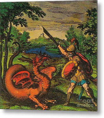 Alchemical Knight Slays The Primordial Metal Print by Science Source