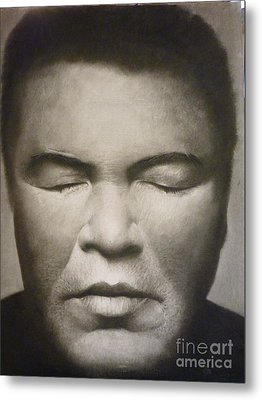 Ali  Metal Print by Adrian Pickett Jr