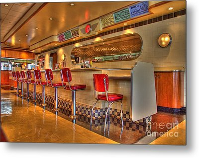 All American Diner 2 Metal Print by Bob Christopher
