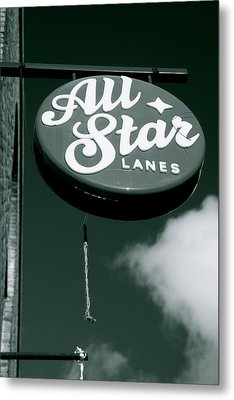 All Star Lanes Metal Print by Jez C Self
