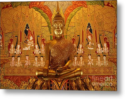 All That Gold Metal Print by Bob Christopher