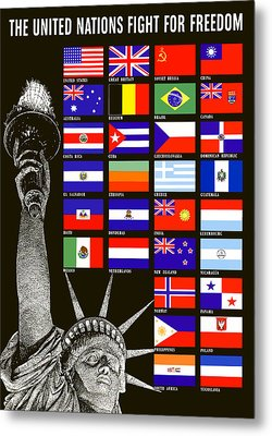Allied Nations Fight For Freedom Metal Print by War Is Hell Store